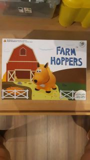 Farm Hoppers - Award Winning Inflatable Bouncing Yellow Dog with Pump