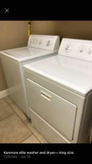 Kingsize washer and dryer good working condition