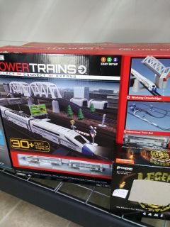 Powertrans train and city..