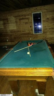 For Sale/Trade: Olhausan Slate Pool table Budweiser light balls sticks and racks