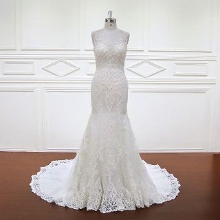 Allison's Mermaid Appliqué  Wedding Gown