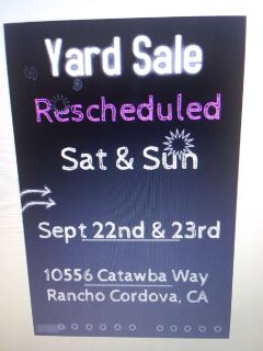 EVERYTHING MUST GO! Yard Sale!