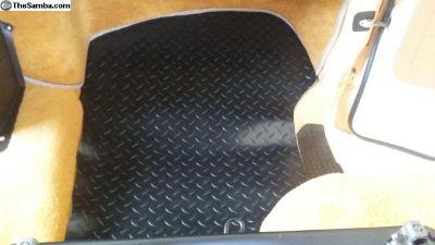 VW Vanagon Rubber Floor Mat Front Right Passenger