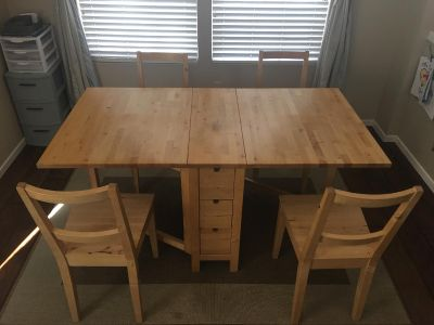 Ikea Norden Dining Table w/ 4 chairs