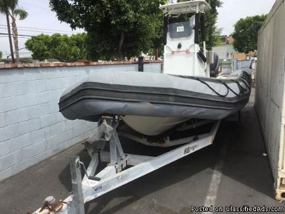 2004 ZODIAC 700 SRO 21' INFLATABLE BOAT WITH TRAILER