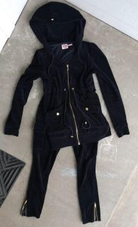 Juicy Couture black velour outfit