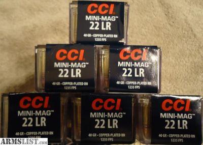 For Sale: 1500rds - CCI Mini Mag 22lr 40gr CPRN