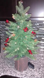 Noma Indoor Battery Operated Pine Christmas Tree