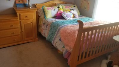 3 in 1 bed and dresser
