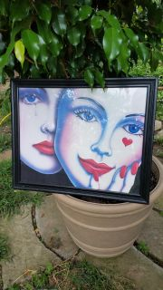 Picture with glass...wood frame