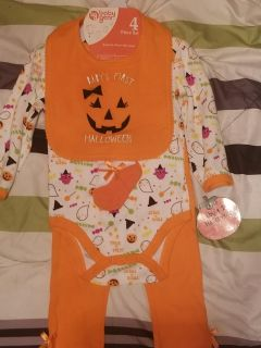 4 Piece Infant Halloween Outfit
