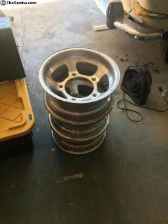 Five wide aluminum rims