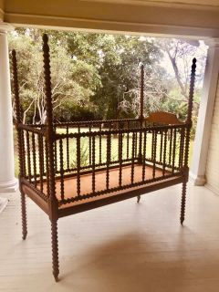 Antique French baby crib
