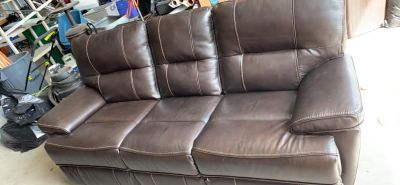 Brand new leather power reclining sofa