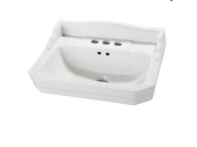 NEW. Foremost 7 in. Pedestal Sink Basin in White