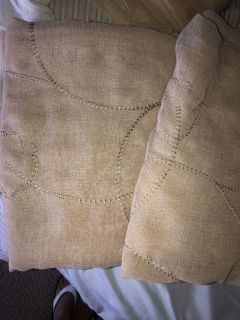4 Beige curtain panels 56x84 length $20 for All