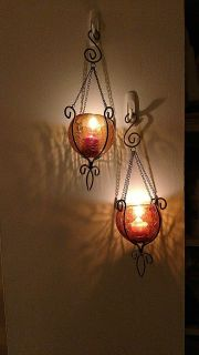 Hanging Glass Candle Holders