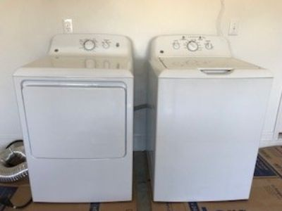 BRAND NEW GE WASHER & DRYER