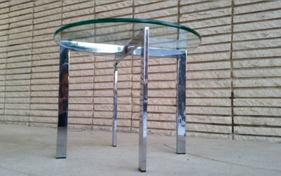 Mid Century Mies van der Rohe Barcelona Side Table
