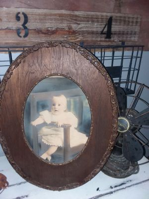Antique Picture with Beautiful Wooden Frame