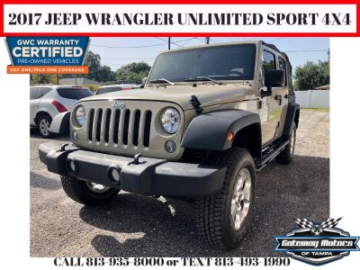 2017 Jeep Wrangler Unlimited Sport 4X4 (Beige)