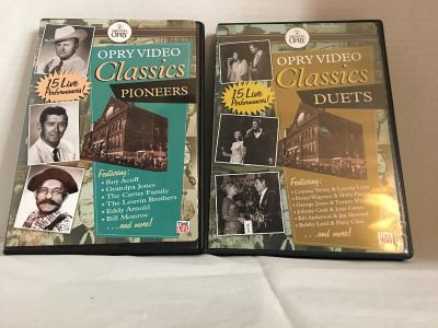 2 DVDs: Opry Video Classics: Pioneers and Duets