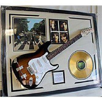 $650 The Beatles Signed Guitar with awesome collectables! AR4274