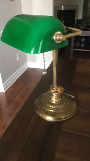 Vintage green lamp! pPU