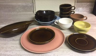 Group of Mid Century Modern Russel Wright Iriqouis & American Modern Dishes. CP.