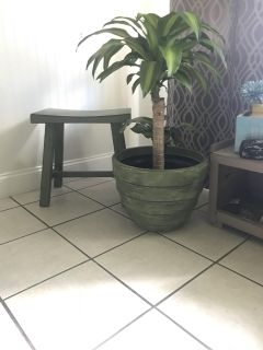 Large hand painted planter