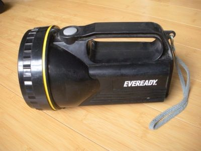 "eveready black ""work gear"" langern with yellow o-ring"