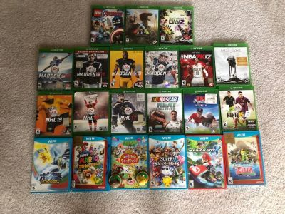 xbox one and wii u games
