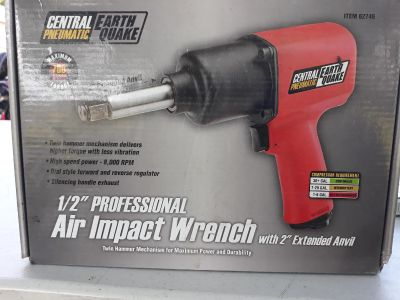 Central pneumatic earthquake 1/2 air impact wrench
