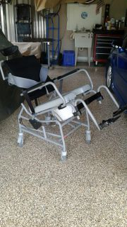 Active Aid Tilt-In-Space Shower/Commode Wheelchair Model 285/18