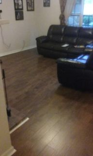 laminate floors install with free underlayment*