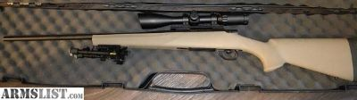 For Sale: HOWA 1500 .308 synthetic stock, scope, professional Cerakoted barrel/bolt handle