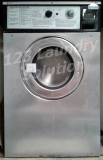 Fair Condition Wascomat Front Load Washer Double Load W74 120V Stainless Steel