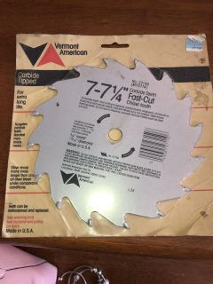 Carbide chisel tooth blade new