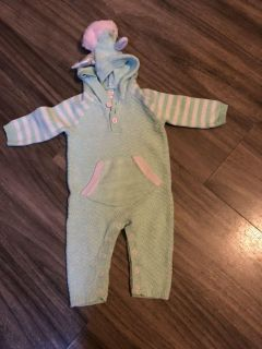 Unicorn onesie costume outfit, size 3-6 month