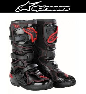 Purchase Alpinestars Tech 6S Youth Red Size 2-8 Off-Road Dirt Bike Boots motorcycle in Ashton, Illinois, US, for US $219.95
