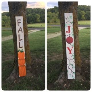 5 Wooden Fall & Christmas Sign