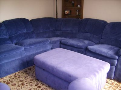 3-pc sectional with ottoman and rocker recliner
