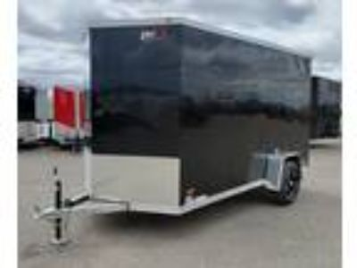 "2019 RC Trailers 6x12SA Aluminum Enclosed 6'6"" Int Cargo - Black"