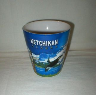 Ketchikan Alaska Coffee Mug Cup - Bush Plane, Eagle, Totem Pole