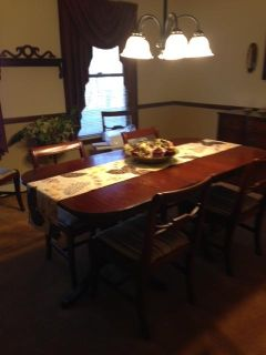Dining Table and 6 Chairs WWII