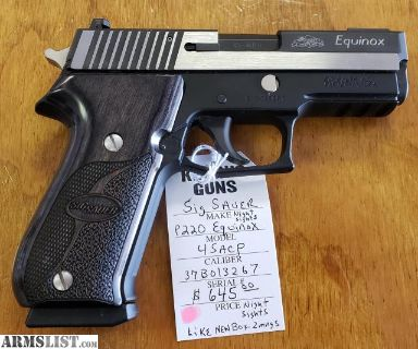 For Sale: Sig Sauer P220 Equinox