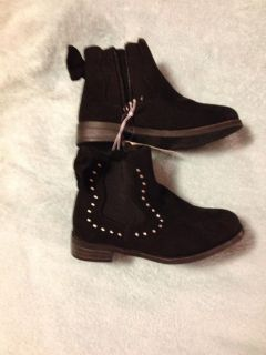 NWT Black Boots with Rhinestones Size 10 $11.00