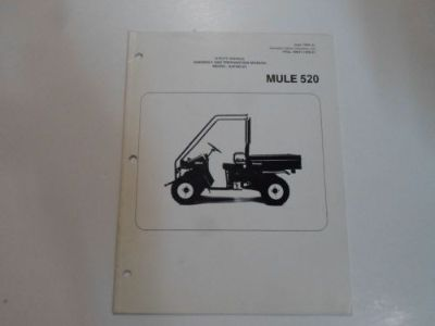 Find 2000 Kawasaki MULE 520 Utility Vehicle Assembly & Preparation Manual STAINED 00 motorcycle in Sterling Heights, Michigan, United States, for US $19.99