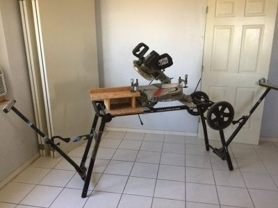 "Porter-Cable 10"" Sliding Compound Miter Saw w/ Portable Stand"