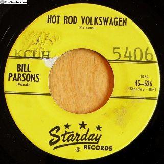 "1960 ""Hot Rod Volkswagen"" 45 RPM Record"